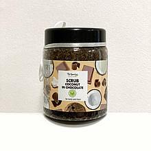 Органічний шоколадно-кокосовий скраб для обличчя і тіла Top Beauty