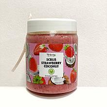 """Органічний скраб для обличчя і тіла з кокосовою олією """"Полуниця"""" Top Beauty"""