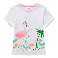 Футболка для девочки Розовый фламинго Jumping Meters (18-24 мес)