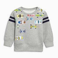 Свитшот для мальчика Гоночные машины Little Maven (18 мес)