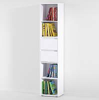 Полка для книг, стеллаж для дома с выдвижными ящиками P0006