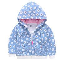 Кофта для девочки Ромашка, голубой Berni Kids (9 мес)