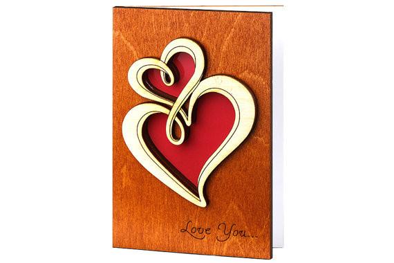 Деревянные открытки ручной работы