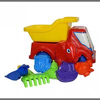 Машина ВОЛЬВО с лопаткой, + грабли, 4 паски, лейка слоник. арт. Л-013-14
