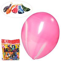ШАРИКИ НАДУВНЫЕ MK 3394-2 10 дюймов, рисунок, 50 штук в кульке.