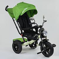 Велосипед 3-х колёсный Best Trike 4490 - 3553, поворотное сиденье, складной руль, русское озвучивание, надувные колеса, пульт включения звука и света, фото 1