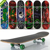 Скейт MS 0322-4   размер 78-20см. алюм. подвеска, колеса ПВХ 7 слоев,