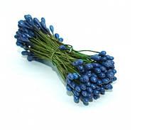 Тычинки синие на проволоке 25 шт/уп