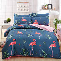 Комплект постельного белья Большой фламинго (двуспальный-евро) Berni Home