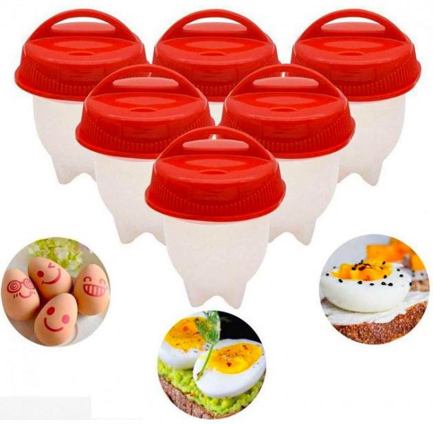 Cиликоновые формы комплект для варки яиц без скорлупы формочки яйцеварка Silicone Egg Boil 6шт