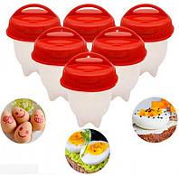 Cиликоновые формы комплект для варки яиц без скорлупы формочки яйцеварка Silicone Egg Boil 6шт, фото 1