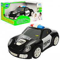 МАШИНКА 6106A полиция,ездит, звуковая, светящая, резиновые колеса.