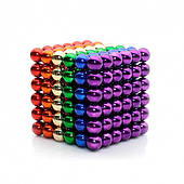 Головоломка Neocube развивающий конструктор Неокуб в боксе 216 магнитных шариков 5 мм Радужный