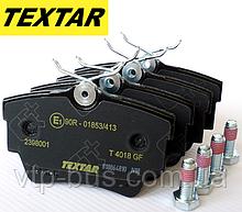 Тормозные колодки задние Renault Trafic / Opel Vivaro / Nissan Primastar (2001-2014) TEXTAR (Германия) 2398001