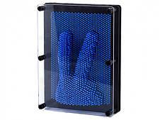 3D игрушка антистресс гвозди скульптор Pinart Отпечаток руки синий