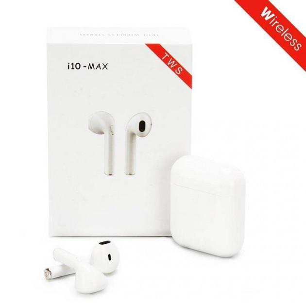 Беспроводные наушники Bluetooth 5.0 с зарядным кейсом i10 MAX TWS белые
