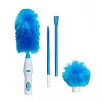 Электрическая щетка для уборки пыли Гоу Дастер 2 Насадки Go Duster синий