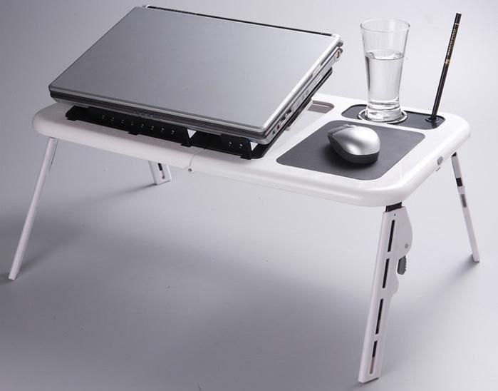 Подставка Столик для ноутбука Охлаждающая 2 Кулера E-Table LD09