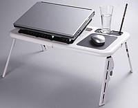 Подставка Столик для ноутбука Охлаждающая 2 Кулера E-Table LD09, фото 1