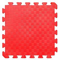 КОВРИКИ ПАЗЛЫ МЯГКИЕ НА ПОЛ, цвет красный, арт EVA 115. размер 50-50 см.