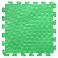КОВРИКИ ПАЗЛЫ МЯГКИЕ НА ПОЛ, цвет зеленый, арт EVA 116. размер 50-50 см.