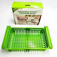 Ящик для холодильника раздвижной пластиковый контейнер подвесной универсальный органайзер для продуктов и, фото 1