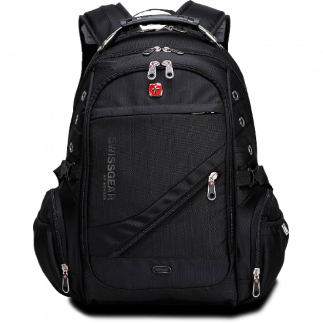 """Городской универсальный влагозащищенный рюкзак с дождевиком 39л AUX и USB  17"""" Swissgear 8810"""