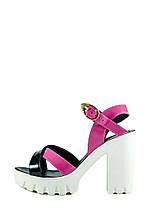 Босоножки женские летние MIDA 23624-369 черно-розовые (37)