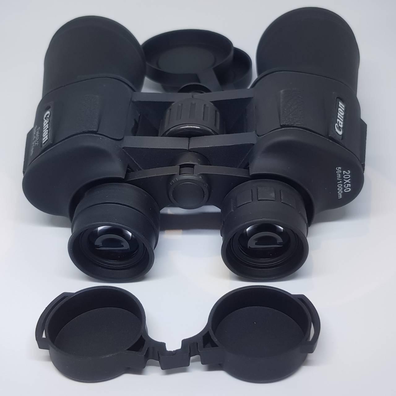 Бинокль прорезиненный с чехлом 20 крат оптика для наблюдения Canon 20x50