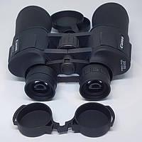 Бинокль прорезиненный с чехлом 20 крат оптика для наблюдения Canon 20x50, фото 1