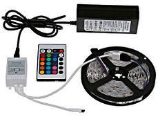Светодиодная лента в силиконе влагозащищенная в комплекте блок питания контроллер и пульт SMD 5050 RGB 5м