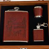 Набор подарочный Lefard шахматы+фляга Охотник 250 мл 18138-001, фото 2