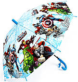 Детский зонтик трость полуавтомат зонт Мстители