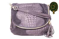 Итальянская замшевая сумка-мессенджер, средняя B6L0-2-001