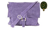 Итальянская замшевая сумка-мессенджер, средняя B600-08