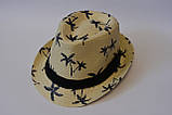 Стильная детская летняя шляпа панамка панама, фото 5