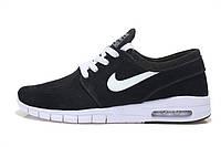 Кроссовки мужские Nike SB Stefan Janoski Max Black White Suede , фото 1