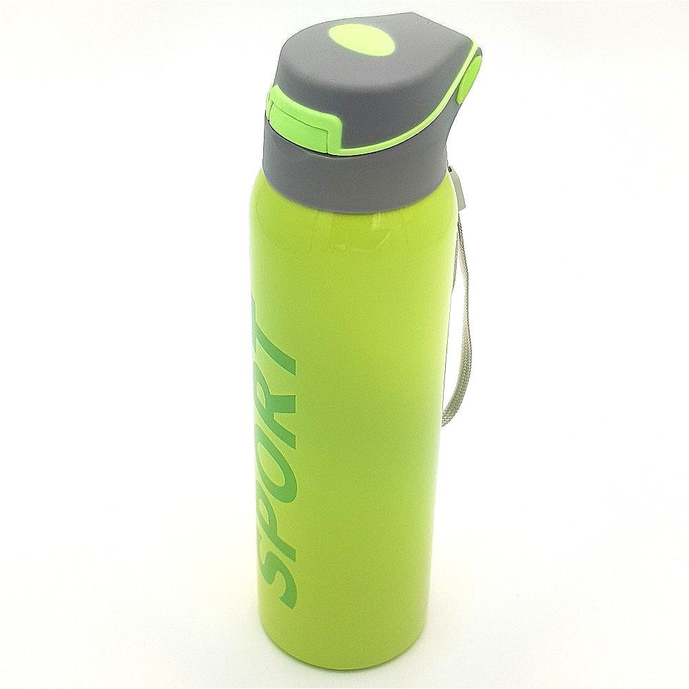 Бутылка термос для воды напитков с трубочкой поилкой спортивная стальная 500 мл SPORT зеленая