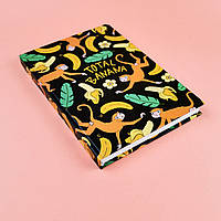Скетчбук А5 130 страниц Total banana в твердой обложке