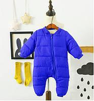 Комбинезон утепленный детский Медвеженок, синий Berni Kids (80)
