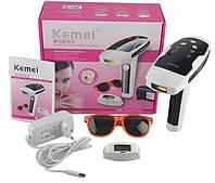 Эпилятор свето фото лазерный для лица и тела удаления волос в домашних условиях KEMEI KM6812
