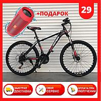 Спортивный горный ВЕЛОСИПЕД колеса 29 дюймов TopRider 611 29 Черно Красный Крутой спортивный горный велик