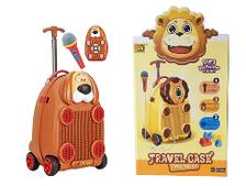 Детский чемодан Собака с микрофоном и на пульте управления