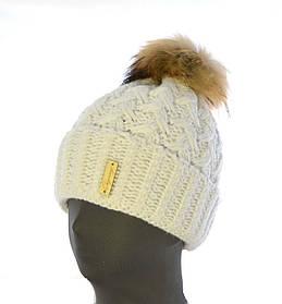 "Женская шапка ""Аэлита"" енот"