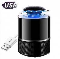 Лампа ловушка для комаров уничтожитель насекомых 5 Вт USB Mosquito Killer Lamp черная, фото 1
