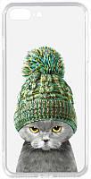 Чехол-накладка TOTO Acrylic+TPU Print Case Apple iPhone 7 Plus 8 Plus 7 Cat In Hat Transparent 94, КОД: 1304518
