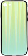 Чехол-накладка TOTO Aurora Print Glass Case Apple iPhone 7 8 Green 95881, КОД: 1304531