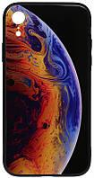 Чехол-накладка TOTO Print Glass Space Case Apple iPhone XR Violet 96185, КОД: 1304567