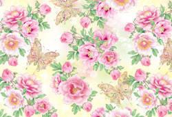 "Подарочная бумага для упаковки подарков "" Бабочки, цветочки "" , размер 707х1000 мм"