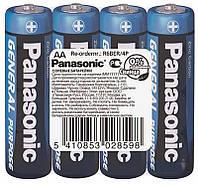 Батарейка PANASONIC General Purpose АА R6BER/4P 1.5 V пальчик, фото 1